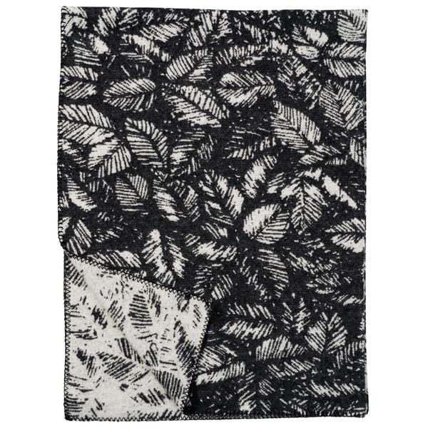 Plaid in lana AMORINA 130x180cm Black-0