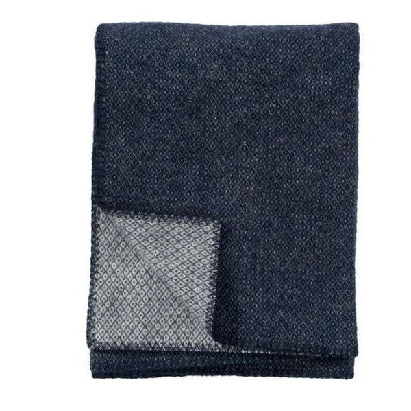 Plaid in lana PEAK 130x180cm Denim-0