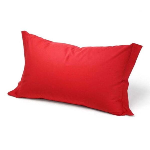 Coppia federe guanciale rosso cotone 100%